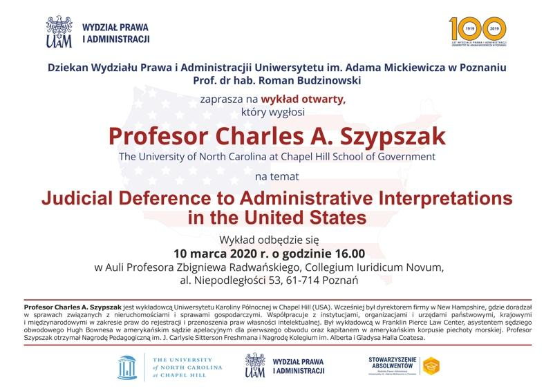 Wykład prof. Charles A. Szypszak